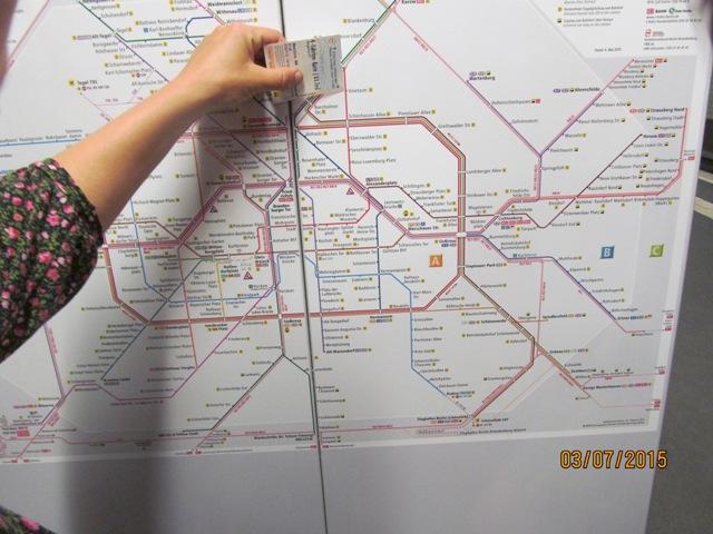 Схема Берлинского метро.