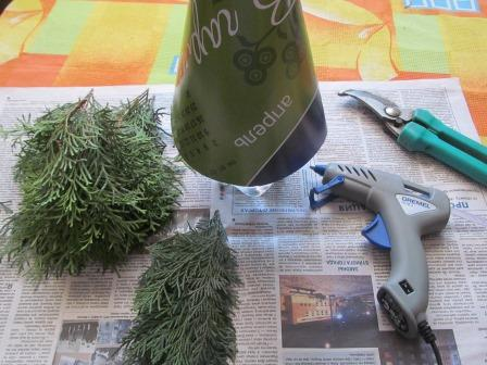 как сделать новогоднюю елку своимируками