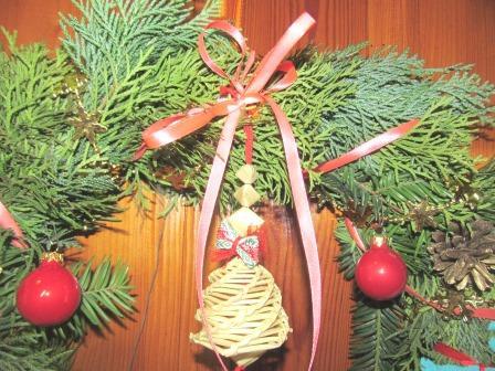 колокольчик на рождественском венке