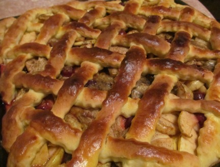 Ленивый пирог с яблочной начинкой