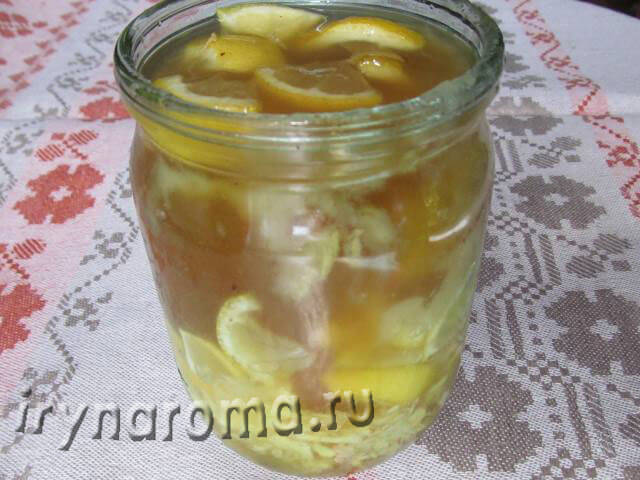 имбирь с медом и лимоном