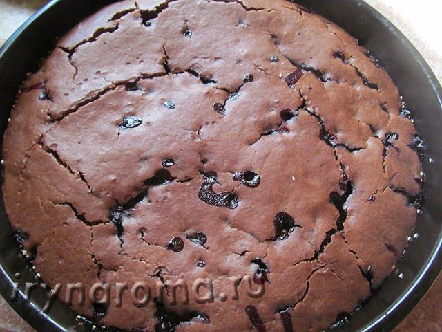 шоколадный пирог с ягодами рецепт