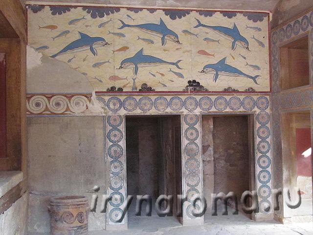 фреска в Кносском дворце