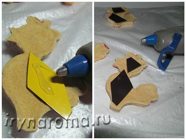 как сделать магниты петушки